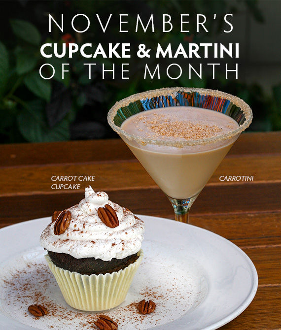 Martini & Cupcake of the Month