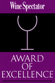 Wine Spectator Awards 2014, 2013, 2012